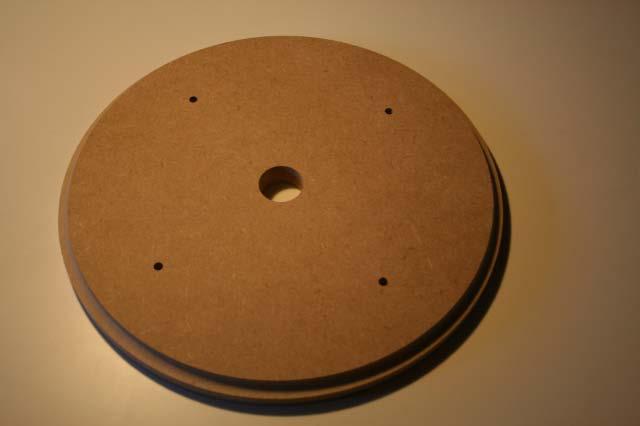 Täckbricka för takarmatur i MDF.
